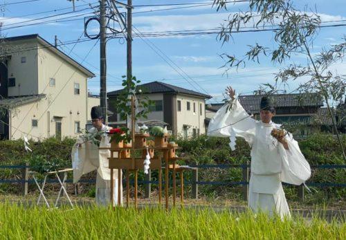 「抜き穂祭、稲刈体験・懸税作り」を開催しました